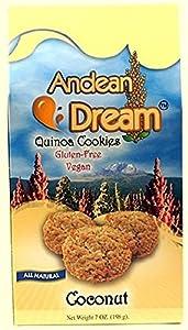 Andean Dream Quinoa Coconut Cookies, 7 Ounce -- 6 per case.