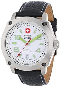 Wenger Outback White Dial Black Leather