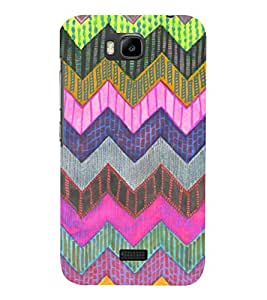 Zig Zag Pattern 3D Hard Polycarbonate Designer Back Case Cover for Huawei Honor Bee :: Huawei Y5C