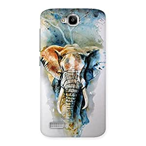 Delighted Elephant Art Back Case Cover for Honor Holly