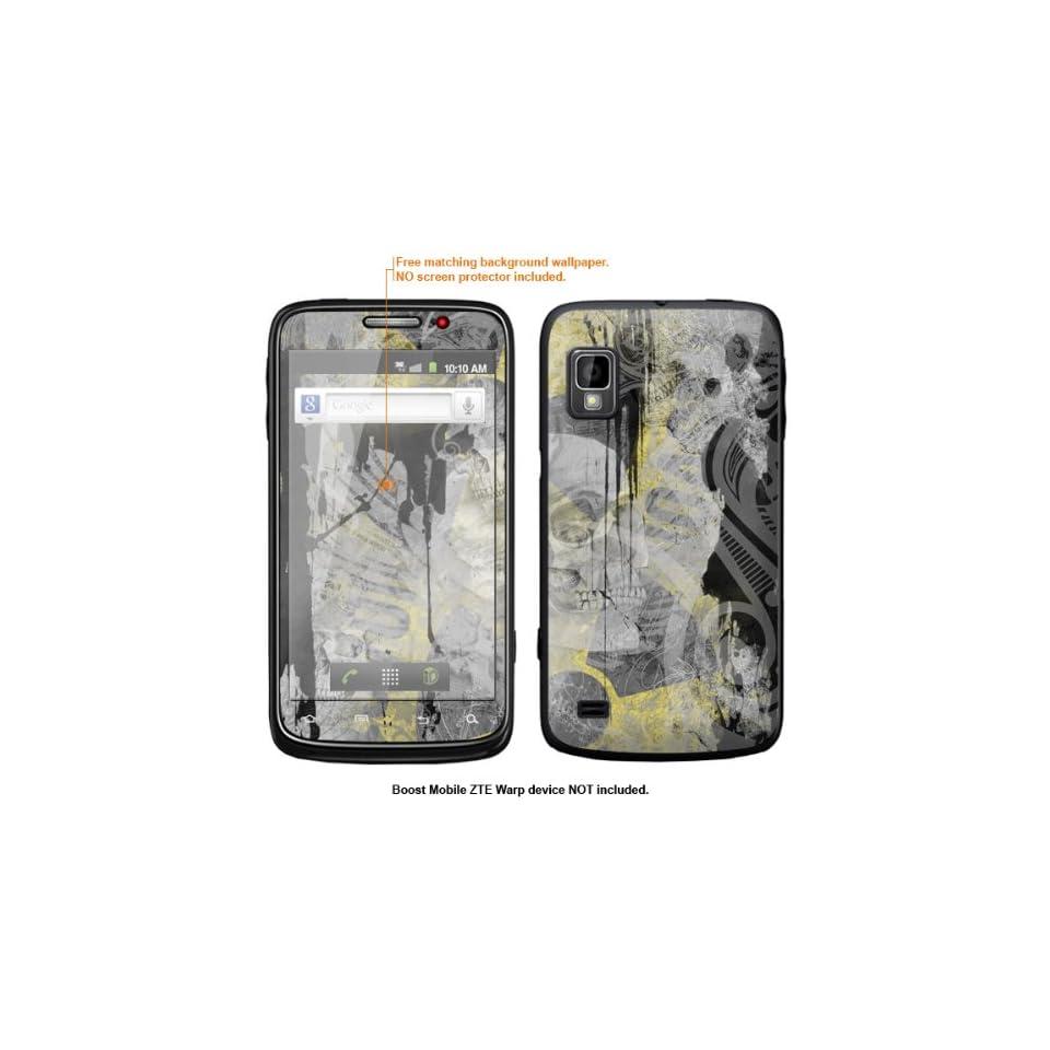 Protective Decal Skin Sticker for ZTE Warp  Boost Mobile version  case cover ZTEwarp 542