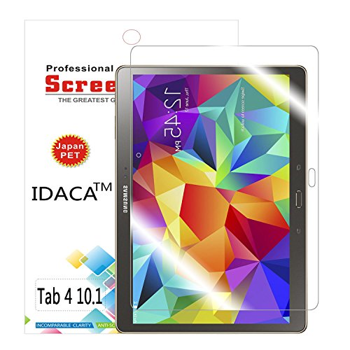IDACA 3 pièces film protection d'écran LCD Clear pour Neuf Samsung Galaxy Tab 4 10.1 SM-T530/SM-T531/SM-T525