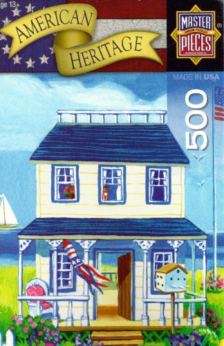 "American Heritage 500 pc Puzzle ""Beach Cottages"" By Geraldine Aikman"