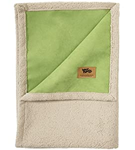 West Paw Design Big Sky Faux Suede/Silky Soft Pet Throw Blanket, Jade, Large