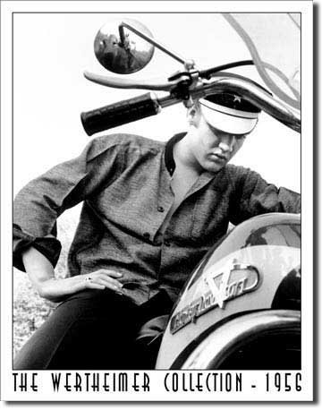 Elvis Presley Tin Metal Sign : Motorcycle , 13x16