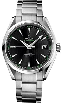Omega Men's 'Seamaster150' Swiss Automatic Stainless Steel Dress Watch, Color:Silver-Toned (Model: 23110422101001)