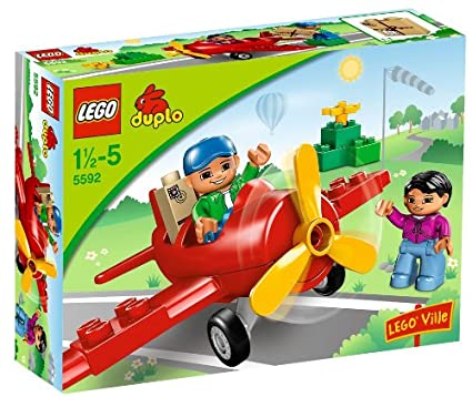 LEGO - 5592 - DUPLO Ville - Jeu de construction - Aéroport - Mon premier avion