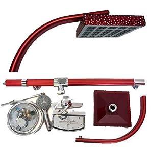 Duschsäule Armatur Duscharmatur Tropendusche Duschpaneel Duschgarnitur Rot  BaumarktKritiken und weitere Informationen