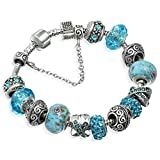A-TE-Armband-Charms-Blaue-Krsitalle-Blume-Glasperlen-Damen-Geschenk-JW-B94