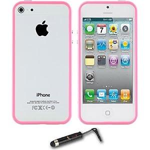 iPhone 5 Hybrid Pink TPU Bumper Case