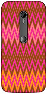 Snoogg Wave Patterns Hard Back Case Cover Shield For Motorola G 3rd generation (Moto G3)