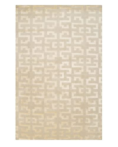 Surya Mugal Contemporary Hand Knotted Rug, Parchment, 5' x 8'