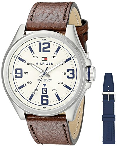 Tommy-Hilfiger-Mens-1791207-Casual-Sport-Analog-Display-Quartz-Brown-Watch