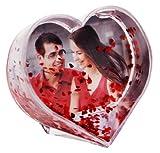 HAAC Schüttelkugel für Foto in Herzform mit roten Herzen Größe