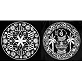 DollsofIndia Set Of Two White Ritual Print On Transparent Sheet - Ritual Print On Sticker For Wall Or Floor Decoration... - B00LD5GPYG