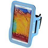 SumacLife Neoprene Sports Workout Armband for Samsung Galaxy note 3 / note 2 / S5 (AT&T, T-Mobile, Sprint, Verizon) (Blue, Samsung galaxy note 3)