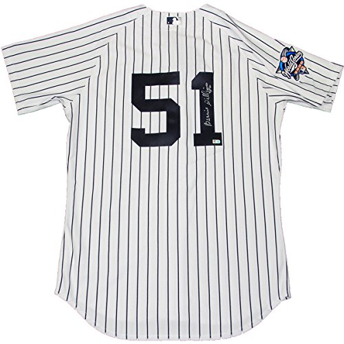 Bernie Williams Signed New York Yankees Authentic Pinstripe Jersey W/ 2000 Patch (Mlb Auth) front-686525