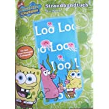 Sponge Bob Schwammkopf Badetuch Duschtuch Strandtuch Spongebob Blauvon &#34;SpongeBob&#34;