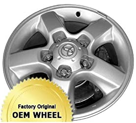 TOYOTA LAND CRUISER 18X8 5 SPOKE Factory Oem Wheel Rim- SILVER – Remanufactured