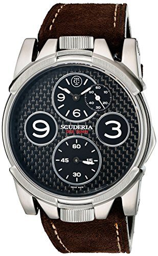 CT-Scuderia-Mens-CS40302-2-Tempi-Analog-Display-Swiss-Quartz-Brown-Watch