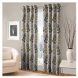 FASHIONFAB 2 Piece Polyester Door Curtain - 7ft, Green
