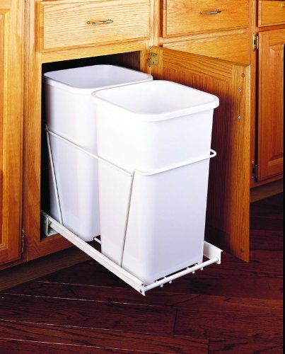Rev-A-Shelf - RV-15PB-2 S - Double 27 Quart Pullout Waste Containers