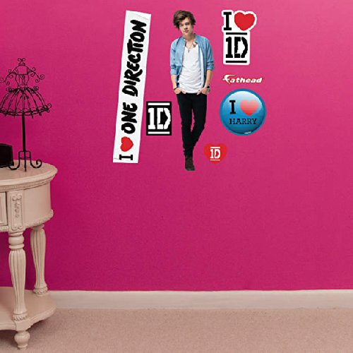 "One Direction 2014 Fathead(Peel And Stick Wall Sticker/Decal) Logosheet- 12""X17""-Harry Styles"