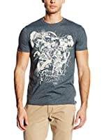 Marvel Camiseta Manga Corta Band Of Heros (Gris Oscuro)
