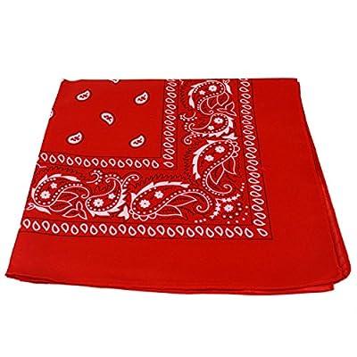 1 X RED bandana scarf black white paisley on both sides