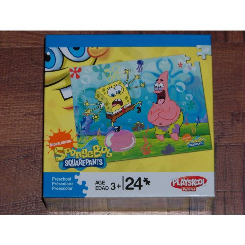 "Nickelodeon Spongebob Squarepants Playskool Puzzle (24 Piece, 10x13"" Assembled) - 1"
