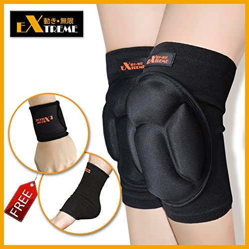 Motion Infiniti - Best Volleyball Knee Pads - No More Bruises with This Multi-purposed Knee Pads - Premium Made for Flooring, Gardening and Wrestling Knee Pads- 100% Money Back Guarantee! (Ice Skating Trainer compare prices)
