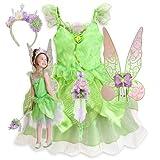 新作 ディズニー Disney Fairies ディズニー フェアリーズ Tinker Bell Costume Tiara Light-Up Wand 2013 子供 キッズ 衣装 コスチューム ウィング ティアラ & ライトアップステッキ 4点セット ティンカーベル 110 120 Sサイズ 4-6歳