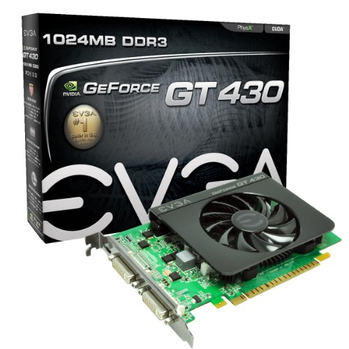 EVGA 01G-P3-1431-KR GeForce GT430 1024 MB DDR3 PCI-Express 2.0 Graphics Card Video Card