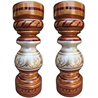 Flower Vase Pair Wooden Flower Vases Wooden Vase Gift Item Showcase Table Decor - B01IBKAVLI