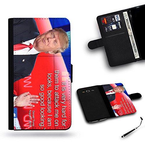 SPGCase Phone Accessory // Protettore Telefono Cassa del cuoio Caso Custodia protettiva Copertura per Huawei P9 Plus # DonaldTrump Good Looking Super Joking Hard To Attack