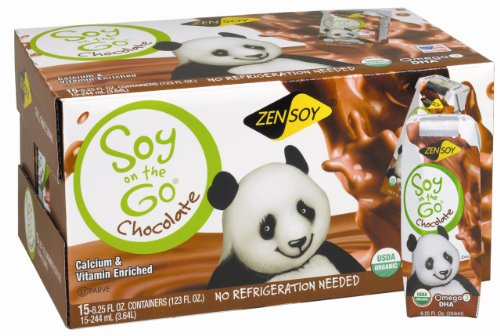 ZenSoy Soy-On-The-Go Soymilk, Chocolate, 8.25-Ounce Aseptic Packages (Pack of 15)