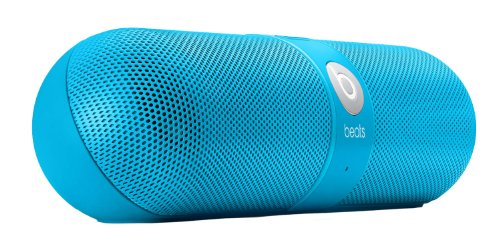 Beats By Dr. Dre Pill Portable Speaker (Neon Blue) Bundle With Beats Pill Dude (Red) And Custom Designed Zorro Sounds Cleaning Cloth