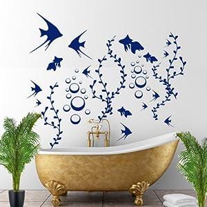 100 stk badezimmer aufkleber fisch fische wandtattoo - Badezimmer aufkleber ...