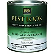 - HW38W0803-14 Best Look Latex Semi-Gloss Paint And Primer In One EnamelInterior Wall Paint