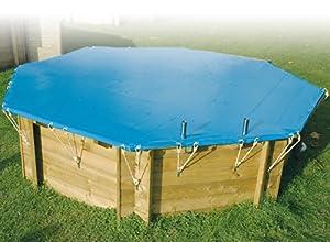 Couverture hivernage de securite pour piscine bois diam 4 for Piscine bois 10m