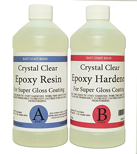 EPOXY RESIN CRYSTAL CLEAR 32 oz Kit. FOR SUPER GLOSS COATING AND TABLETOPS (2 Part Epoxy Resin compare prices)