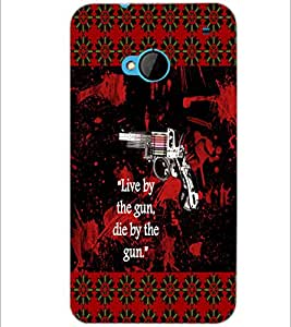 PrintDhaba Quote D-4568 Back Case Cover for HTC ONE M7 (Multi-Coloured)