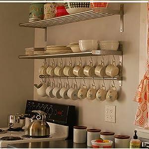 ikea grundtal long 1 kitchen shelf 1 rail and. Black Bedroom Furniture Sets. Home Design Ideas