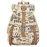 Leben Girls Lovely Canvas Casual Backpack Rucksack Travelling School Bag Ipad Bag