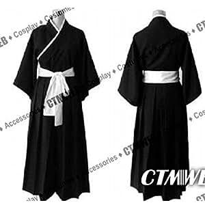 CTMWEB Bleach Cosplay Costume - Ichigo Kurosaki Kimono Black Small