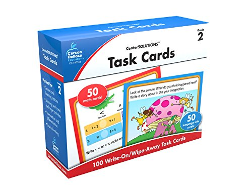 Carson-Dellosa Task Cards Learning Cards Grade 2 (Math Learning Centers compare prices)