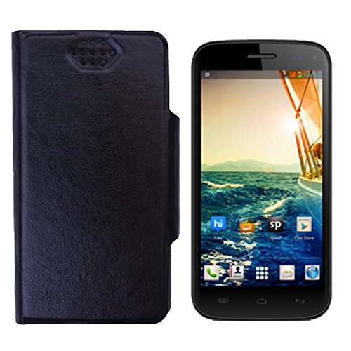Shopme Flip cover for Micromax Canvas Turbo Mini A200 (Black Color)(PU Leather, Access to all Ports, complete mobile Protection,Extremely durable)  available at amazon for Rs.209