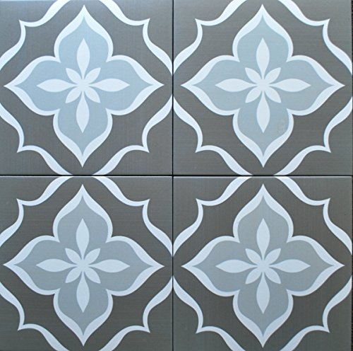 8x8 Flora Antique Grey Porcelain Stoneware Tile