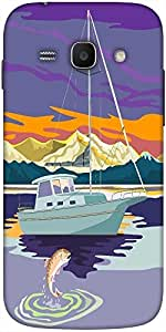 Snoogg Sailboat Retro Solid Snap On - Back Cover All Around Protection For Sa...