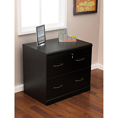 Z-Line Designs 2-Drawer Lateral File Cabinet, Black (Black Wood File Cabinet compare prices)